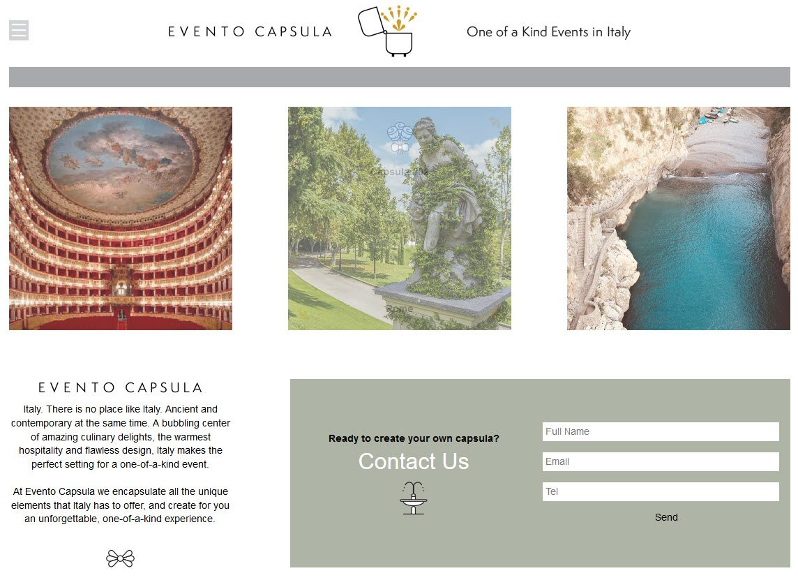 אתר evento capsula